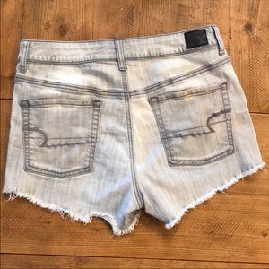 AE Hi Rise Grey Shorts